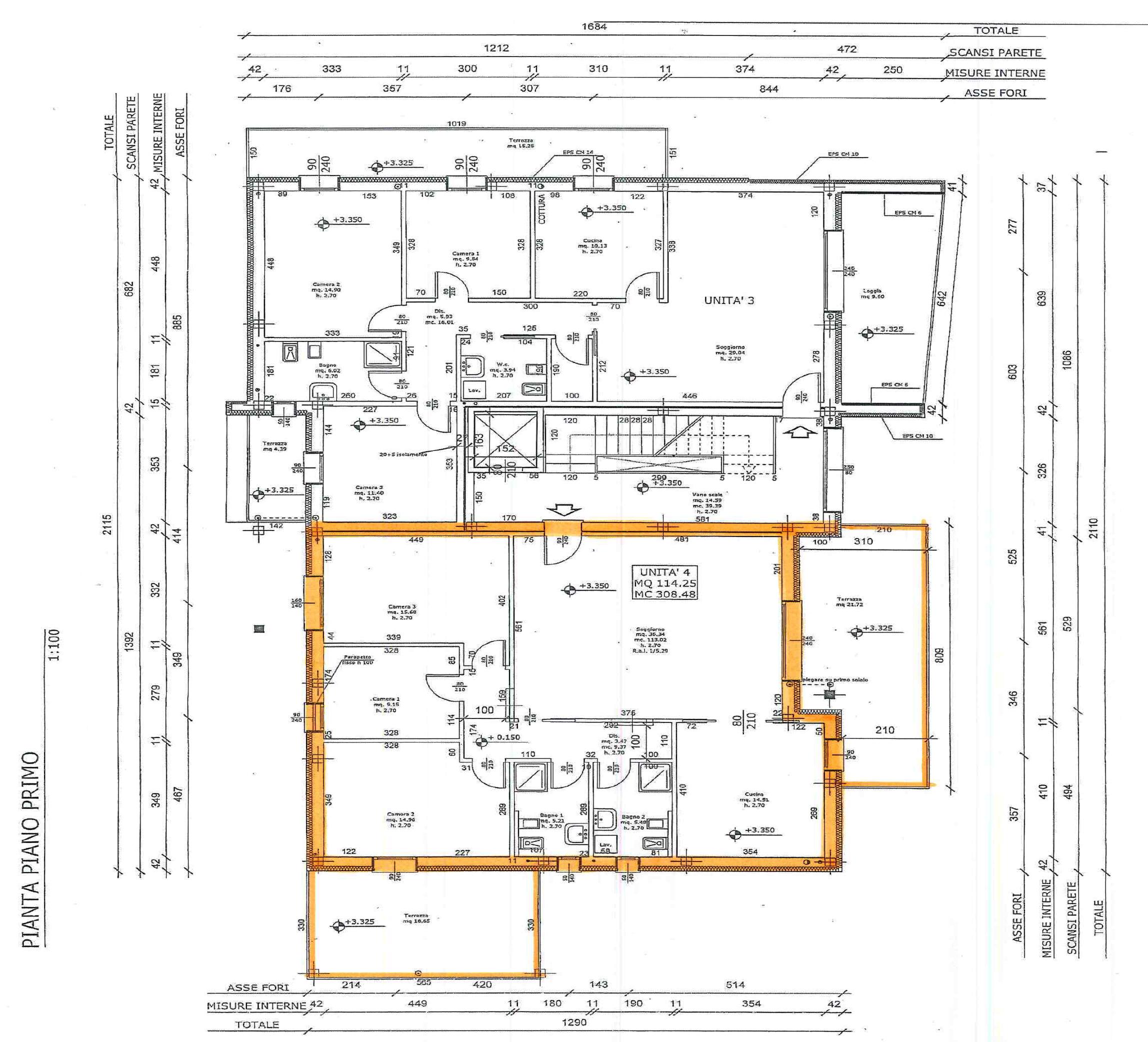 ALBIGNASEGO CENTRO – tre camere unico livello con terrazzo –