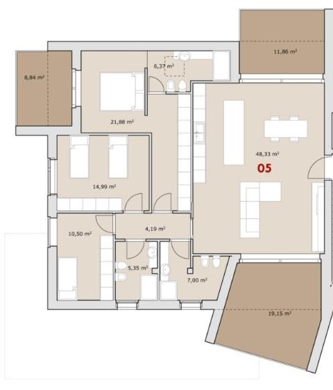 CASALSERUGO – quadrilocale di nuova costruzione classe A4 con terrazze abitabili