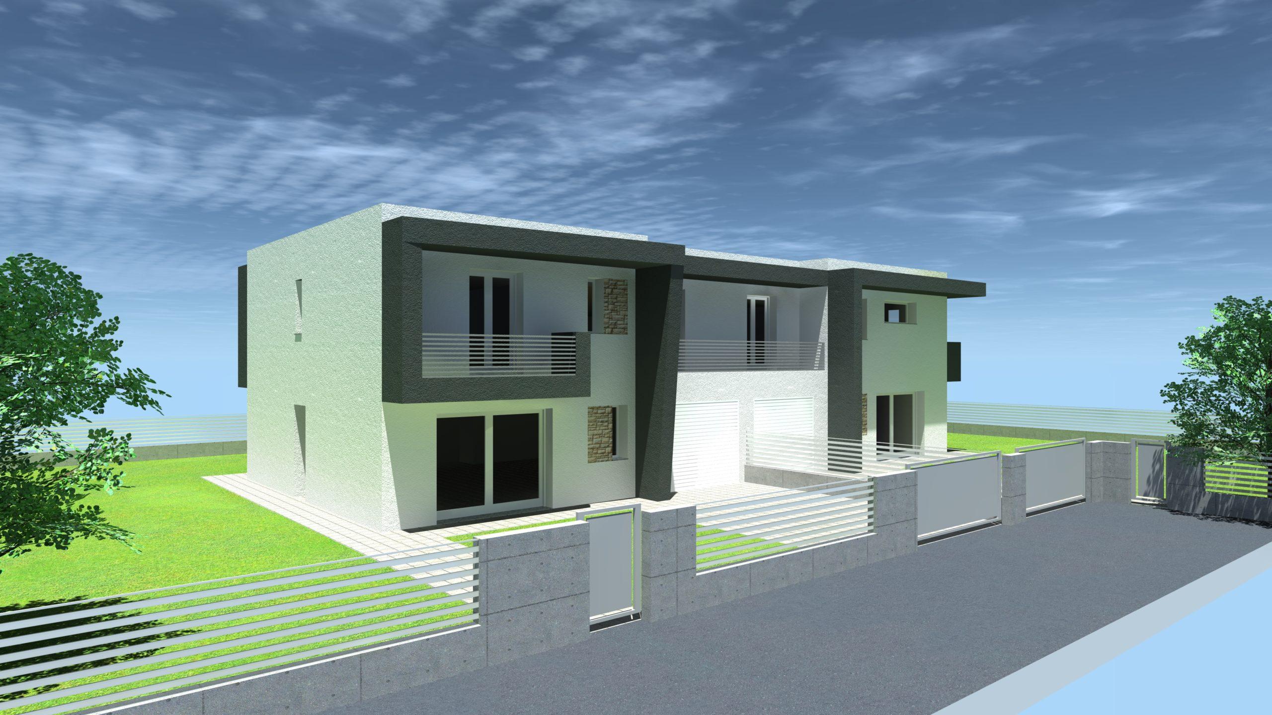MASERA' DI PADOVA – bifamiliare stile moderno in costruzione –
