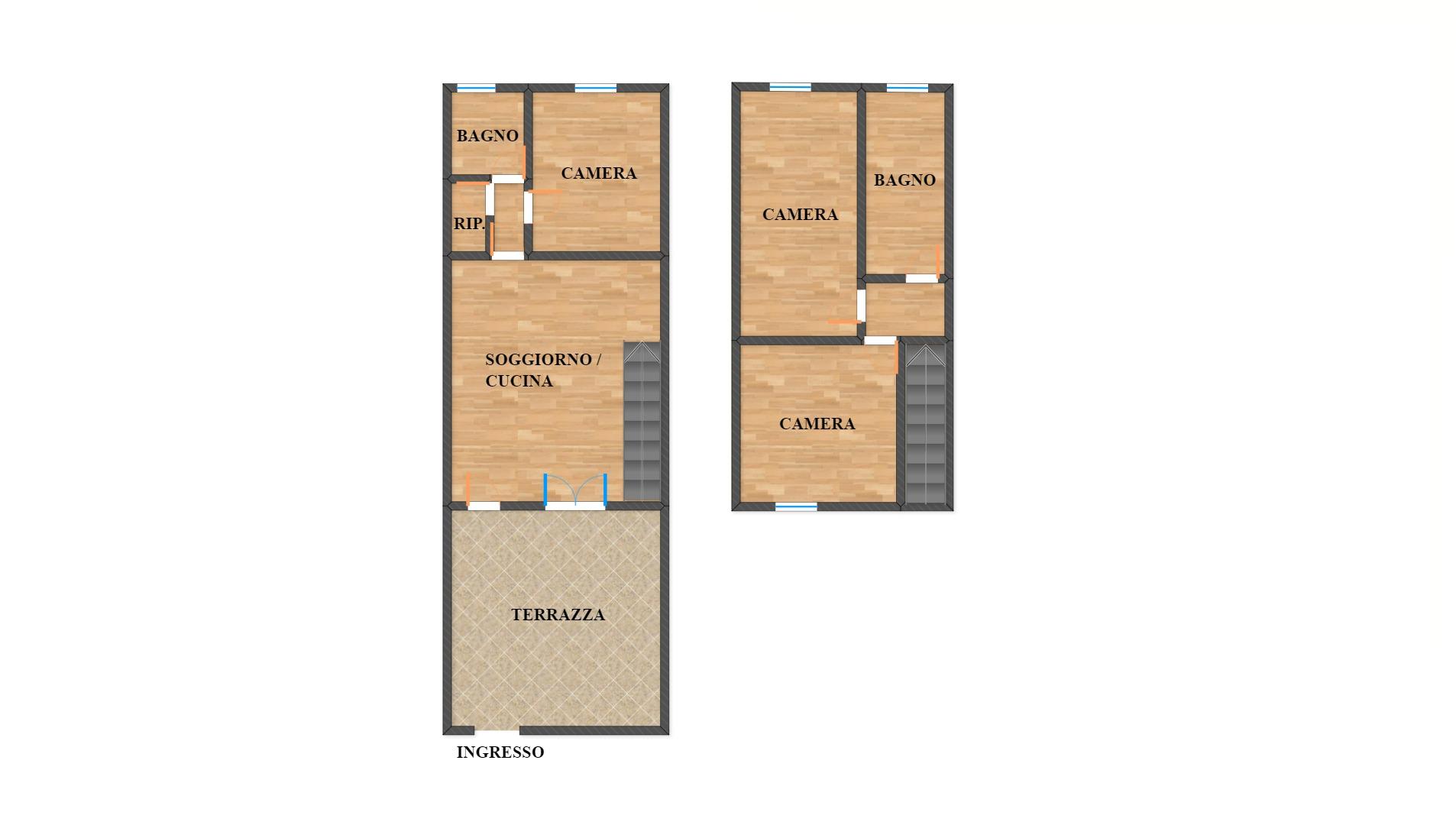MANDRIOLA duplex con tre camere CON CESSIONE DEL CREDITO